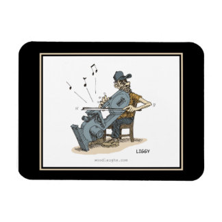 Bandsaw Musician Cartoon Premium Flexi Magnet