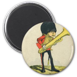 Bandsman de los guardias del granadero imán redondo 5 cm