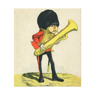 Bandsman de los guardias del granadero impresiones en lona estiradas