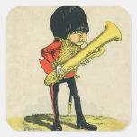 Bandsman de los guardias del granadero colcomanias cuadradases