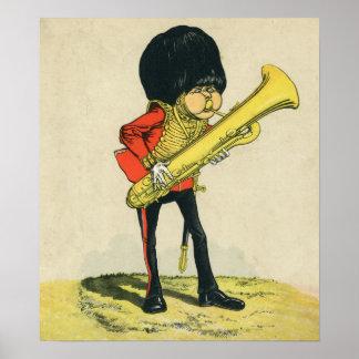Bandsman de los guardias del granadero póster