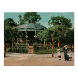 Bandstand agradable 1908 posters
