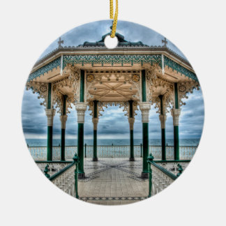 Bandstand de Brighton, Inglaterra Adorno Navideño Redondo De Cerámica