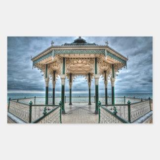 Bandstand de Brighton, Inglaterra Pegatina Rectangular
