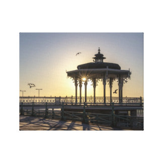 Bandstand del Victorian en el amanecer Impresión En Lienzo