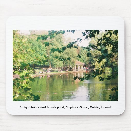 Bandstand & Duck pond, Stephens Green Dublin Mousepad