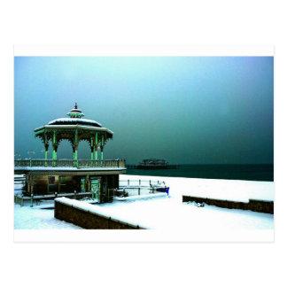 Bandstand levantado en invierno Brighton Postal