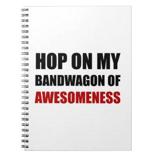 Bandwagon Of Awesomeness Spiral Notebook