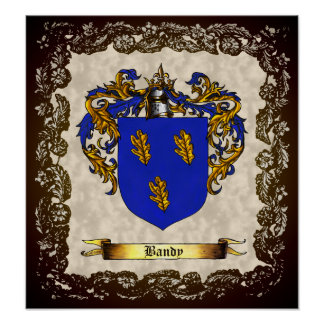 Bandy Shield / Coat of Arms Poster