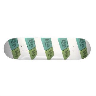 Bane as Ba Barium and Ne Neon Skateboard Deck