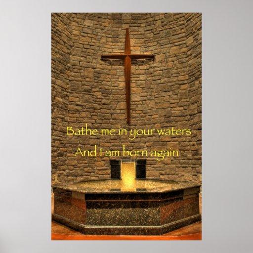 Báñeme - poster religioso de la afirmación