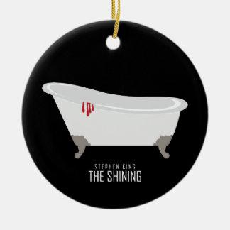 Bañera del sitio 217 adorno navideño redondo de cerámica