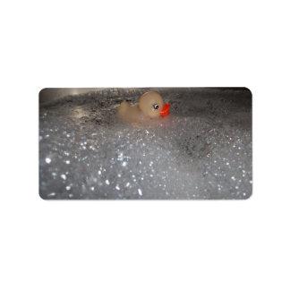 Bañera Etiquetas De Dirección