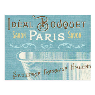 Bañera francesa azul y blanca tarjetas postales
