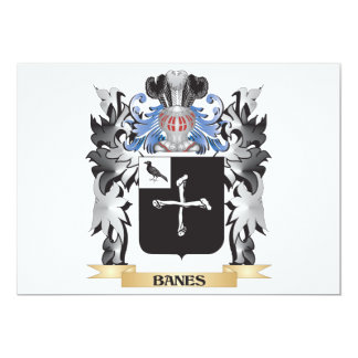Banes Coat of Arms - Family Crest 5x7 Paper Invitation Card