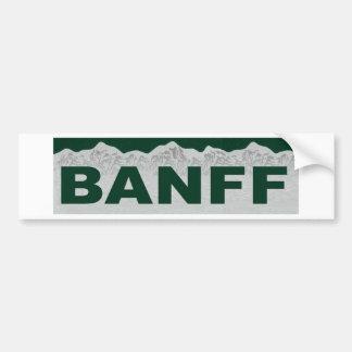 Banff, Alberta Bumper Sticker