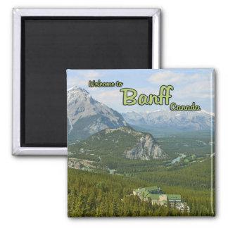 Banff Alberta Canadá Imán Cuadrado