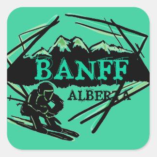 Banff Alberta Canada teal green ski logo stickers