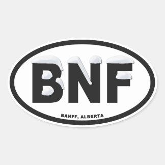 Banff Alberta Oval Oval Sticker