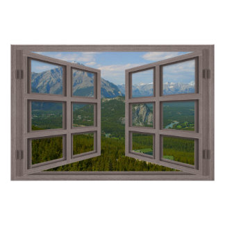 Banff Canada 6 Pane Open Window Poster
