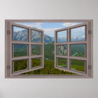 Banff Canada 6 Pane Open Window Poster
