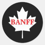 Banff Classic Round Sticker