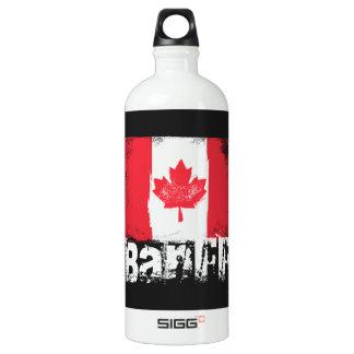 Banff Grunge Flag Aluminum Water Bottle