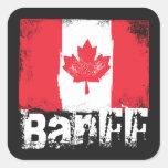 Banff Grunge Flag Square Sticker