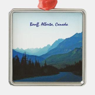 Banff Jasper Blue Christmas Ornament