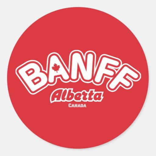 Banff Leaf Classic Round Sticker