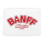 Banff Leaf Rectangular Photo Magnet