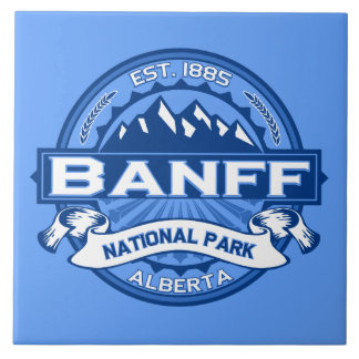 Banff Logo Cobalt Ceramic Tile