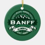 Banff Logo Forest Ceramic Ornament