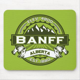 Banff Logo Green Mouse Pad