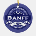 Banff Logo Midnight Ceramic Ornament