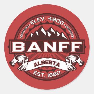 Banff Logo Red Classic Round Sticker