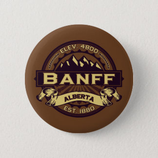 Banff Logo Sepia Pinback Button