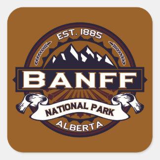 Banff Logo Vibrant Square Sticker