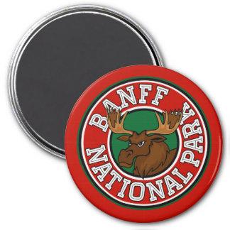 Banff Moose Circle Magnet