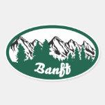 Banff Mountain Oval Oval Sticker