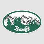 Banff Mountain Oval Stickers