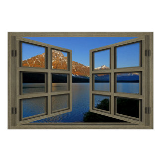 Banff National Park 6 Pane Open Window Poster