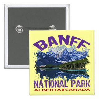 Banff National Park, Alberta Canada Pinback Button