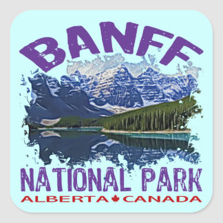 Banff National Park, Alberta Canada Square Sticker