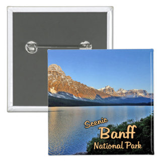 Banff National Park 2 Inch Square Button