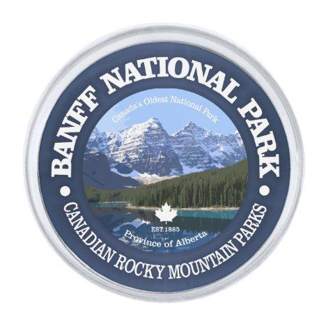Banff National Park (C) Silver Finish Lapel Pin