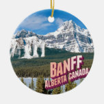 Banff national park Double-Sided ceramic round christmas ornament