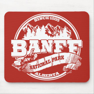 Banff Old Circle Red Mouse Pad