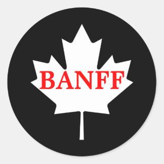 Banff Pegatina Redonda