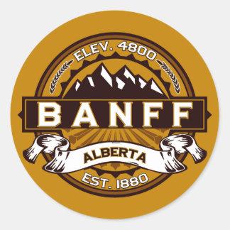 Banff Tile Gold Classic Round Sticker
